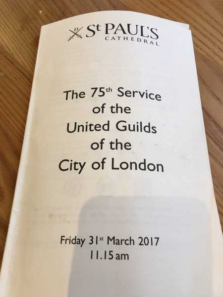 The 75th 'United Guilds of The City of London Service' - St.Paul's Cathedral